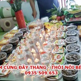 Mâm cúng thôi nôi, đầy tháng con gái(bé gái) ở Đà nẵng