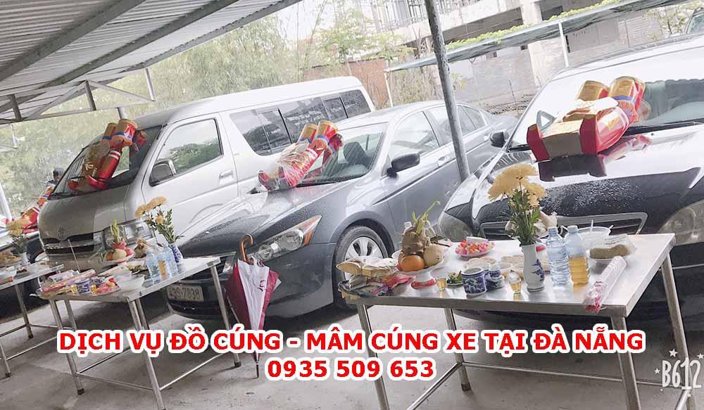 Dịch vụ mâm cúng xe tại Đà Nẵng trọn gói